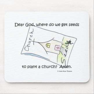 seeds to plant a church mouse pad