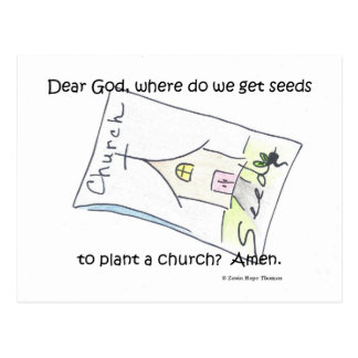 seeds to plant a church postcard
