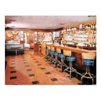 Seedy New York City Bar Vintage Postcard