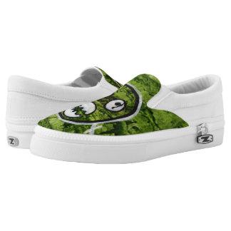 Seedy Pete Cute Skull Monster Green Original Art Printed Shoes