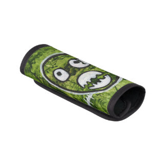 Seedy Pete Cute Skull Monster Watermelon Green Art Luggage Handle Wrap