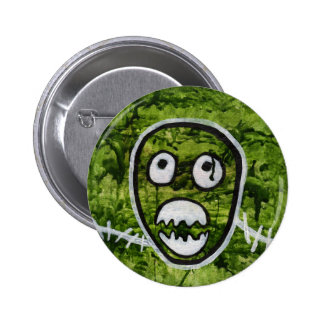 Seedy Pete Skull Odd Whimsical Monster Art Quirky Button