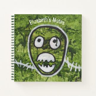 Seedy Pete Skull Odd Whimsical Monster Art Quirky Notebook