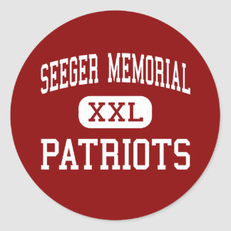 Seeger Memorial - Patriots - High - West Lebanon Classic Round Sticker
