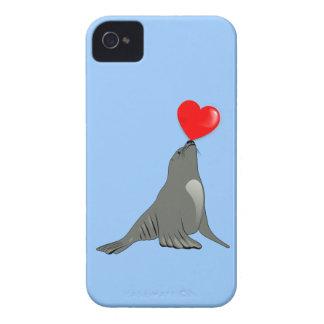Seehund Herz seal heart iPhone 4 Etuis