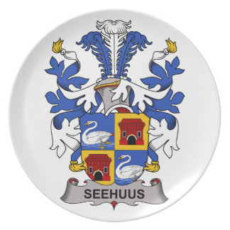 Seehuus Family Crest Party Plate