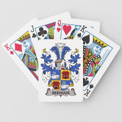 Seehuus Family Crest Poker Cards