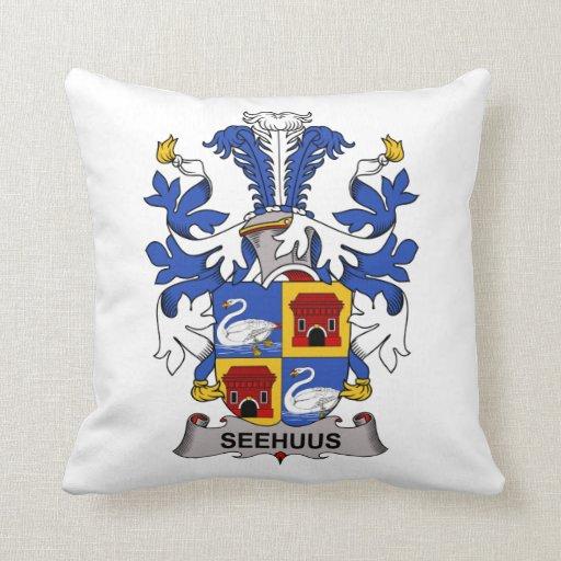 Seehuus Family Crest Throw Pillows
