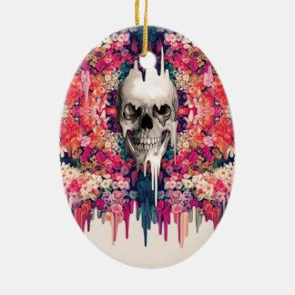 Seeing Color Melting Sugar Skull Ceramic Ornament