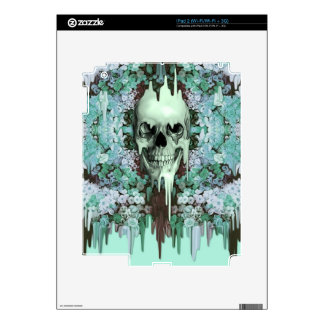 Seeing Color Melting Sugar Skull Skin For The iPad 2