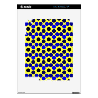 Seeing Dots Black and Blue iPAD 2 SKIN