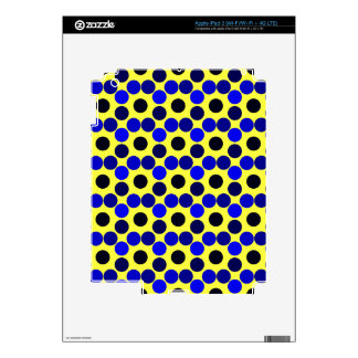 Seeing Dots Black and Blue iPAD 3 SKIN