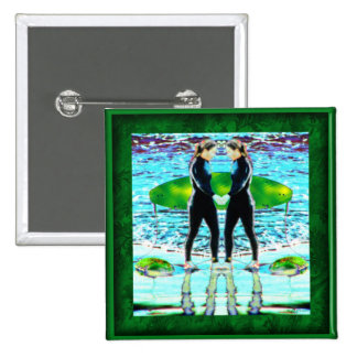 Seeing Double? 2 Inch Square Button