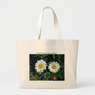 Seeing Double, Daisy, Summer Beauties Large Tote Bag