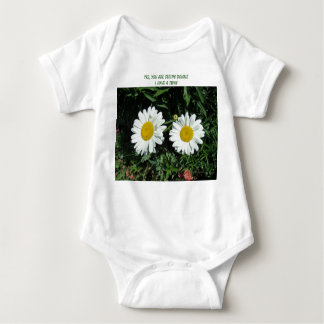 Seeing Double, Daisy, Yes, You Are Seeing Doubl... Baby Bodysuit
