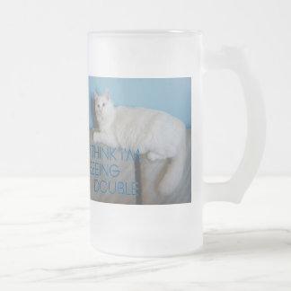 Seeing double/drunk  Beer mug kitty