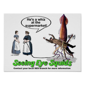 Seeing Eye Squids Poster
