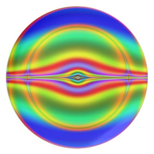 Seeing in Fluorescent Neon Fractal Party Plate