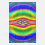 Seeing in Fluorescent Neon Fractal Towel