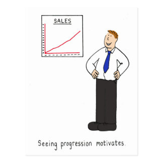 Seeing progress motivates. postcard