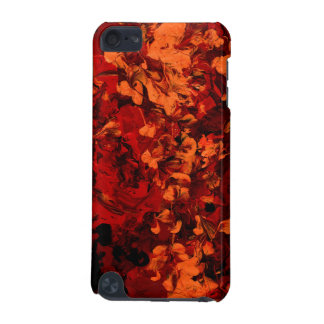 SEEING RED an abstract art design in red & orange iPod Touch (5th Generation) Cases
