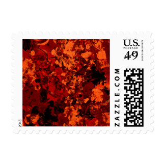 SEEING RED (an abstract art design) ~.jpg Postage