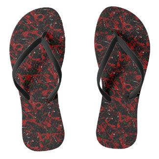 SEEING RED TOO (an abstract art design) ~.jpg Flip Flops