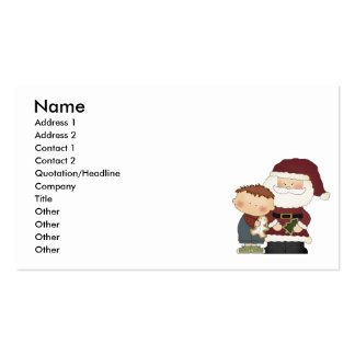 seeing santa boy tot business card templates