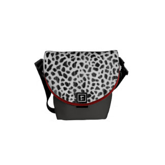 Seeing Spots - Animal Print Pink Messenger Tote Courier Bag