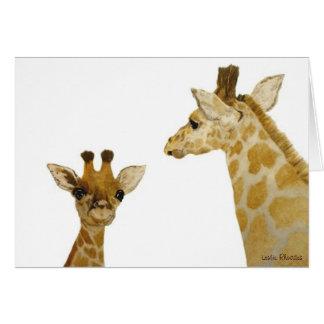 Seeing Spots, Giraffes Card