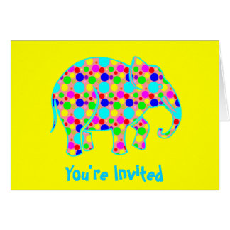 Seeing Spots Invitation Greeting Card