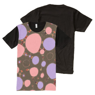 Seeing Spots on Dark Brown All-Over Print T-shirt