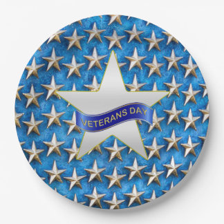 Seeing Stars Veterans Day Party Paper Plates