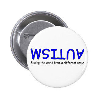Seeing The World From A Different Angle (Blue 2) Pin