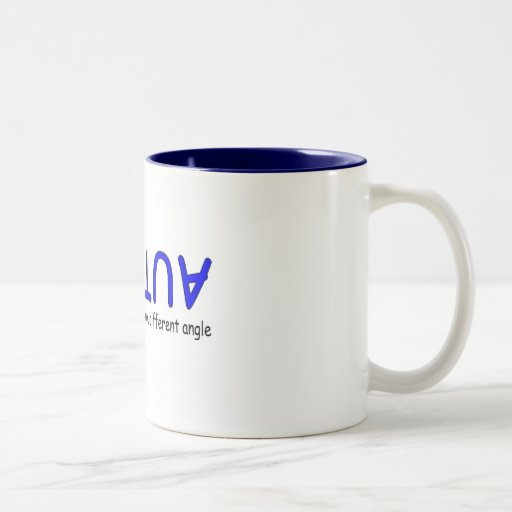 Seeing The World From A Different Angle (Blue 2) Two-Tone Coffee Mug