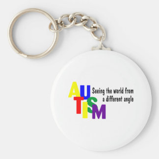 Seeing The World From A different Angle (Bright) Basic Round Button Keychain