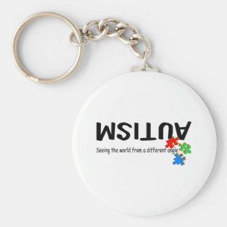Seeing The World From A Different Angle (Pieces) Basic Round Button Keychain