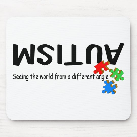 Seeing The World From A Different Angle (Pieces) Mouse Pad