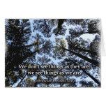 Seeing Things (Trees) Greeting Card