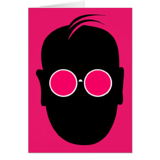 Seeing Through Rose Colored Glasses Card