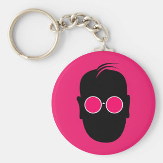 Seeing Through Rose Colored Glasses Keychain