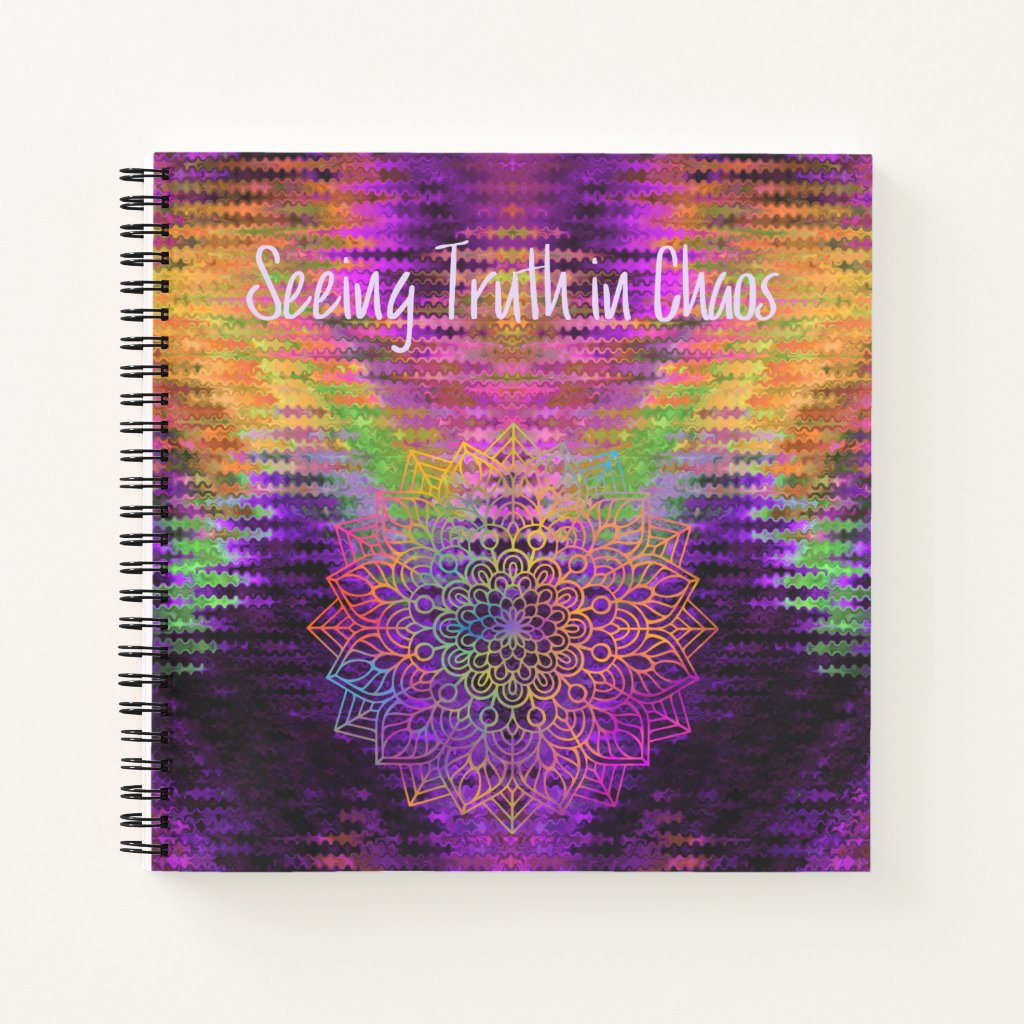 Seeing Truth in Chaos Mandala Multi-color Abstract Notebook