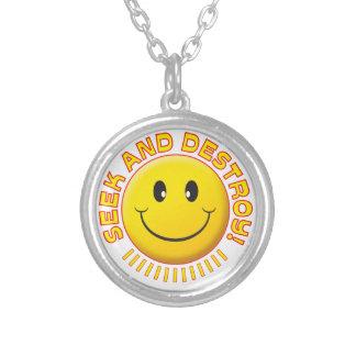 Seek And Destroy Smiley Custom Jewelry