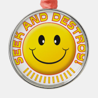 Seek And Destroy Smiley Ornament