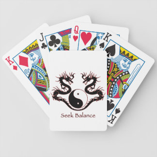 Seek Balance Yin Yang and Dragons Bicycle Playing Cards