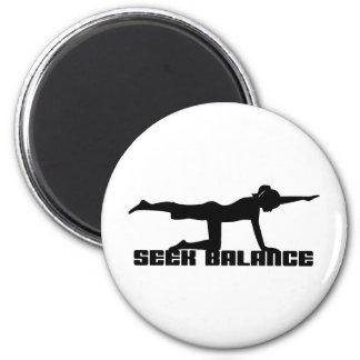 Seek Balance Yoga 2 Inch Round Magnet
