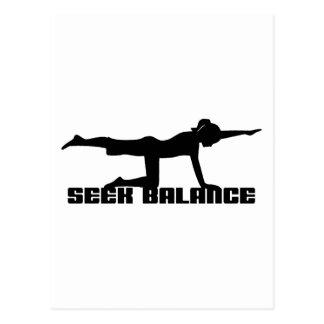 Seek Balance Yoga Gift Postcard