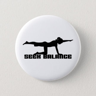 Seek Balance Yoga Pinback Button