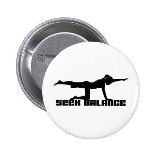 Seek Balance Yoga Pinback Button