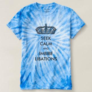 Seek Calm And Imbibe Libations Tie-Dye Shirts